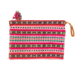 Peruvian Aguayo Clutch - Coco || Keeka Collection