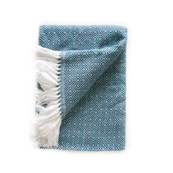 Peruvian Alpaca Blanket - Azul || Keeka Collection