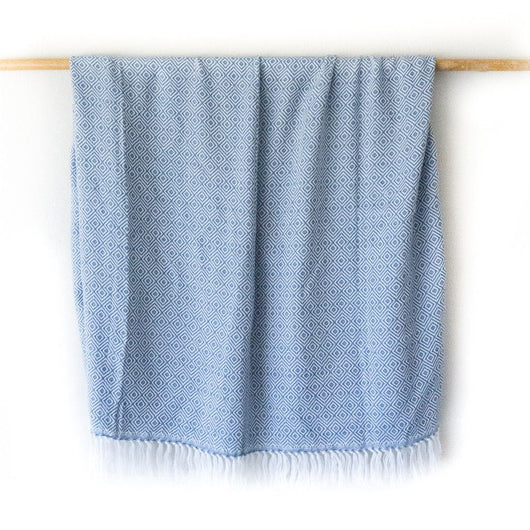 Peruvian Alpaca Blanket - Celestial Blue || Keeka Collection