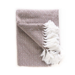 Peruvian Alpaca Blanket - Mushroom || Keeka Collection