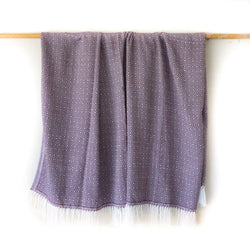 Peruvian Alpaca Blanket - Plum || Keeka Collection