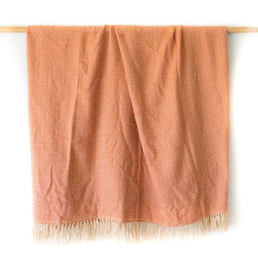 Peruvian Alpaca Blanket - Pumpkin || Keeka Collection