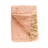 Peruvian Alpaca Blanket - Salmon || Keeka Collection