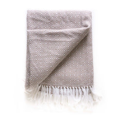 Peruvian Alpaca Blanket - Sand || Keeka Collection