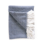 Peruvian Alpaca Blanket - Slate Blue || Keeka Collection