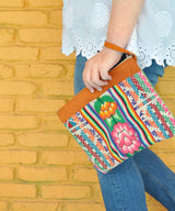 Peruvian Embroidered Aguayo Clutch - Floral || Keeka Collection