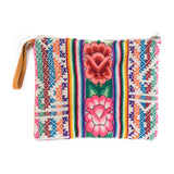 Peruvian Embroidered Aguayo Clutch - Hibiscus