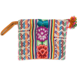 Peruvian Embroidered Aguayo Clutch - Jungle || Keeka Collection