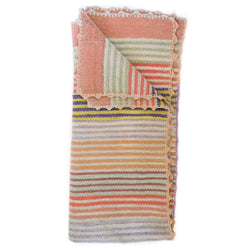 Peruvian Frazada - Pastel Stripe || Keeka Collection