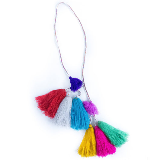 Hanging Peruvian tassel garland - Puno / / Keeka Collection