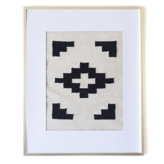 Peruvian Wall Hanging - Black and White Chakana || Keeka Collection