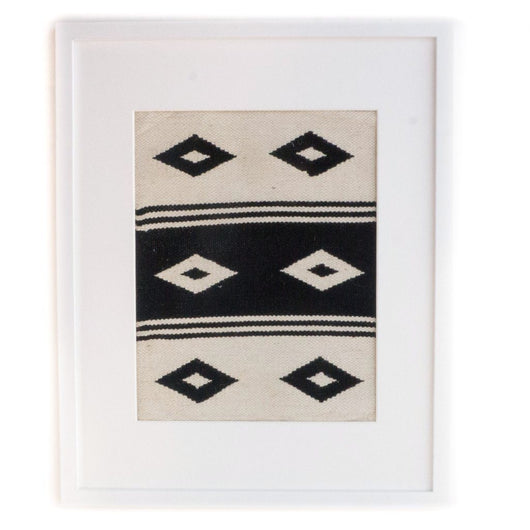 Peruvian Wall Hanging - Black + White Double Diamond || Keeka Collection