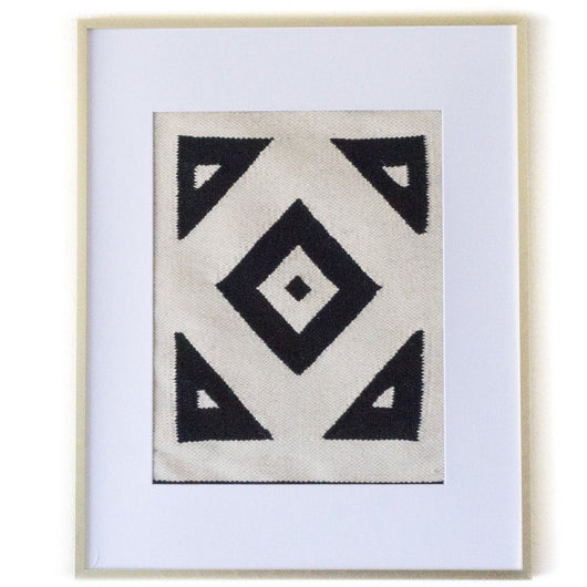 Peruvian Wall Hanging - Black and White Geometric || Keeka Collection