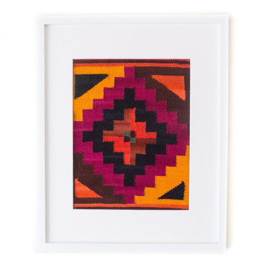 Peruvian Wall Hanging - Magenta Chakana || Keeka Collection