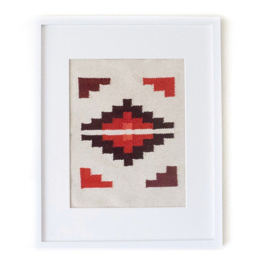 Peruvian Wall Hanging - Red Hot Chakana || Keeka Collection