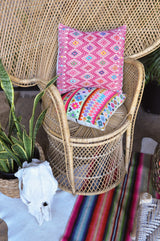 Woven Mexican Pillow - Cheerful Pink || Keeka Collection