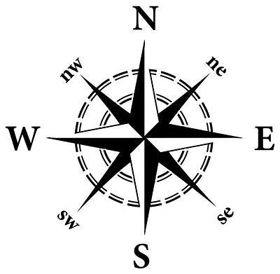 "Large Nautical Compass Stencil - 10 mil reusable  15"" x 15"".  Reusable Pattern"