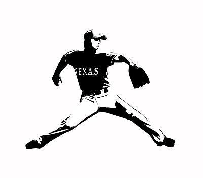 "Texas Baseball stencil Player 12x9"" -  Stencil 7 mil -  Reusable Patterns"