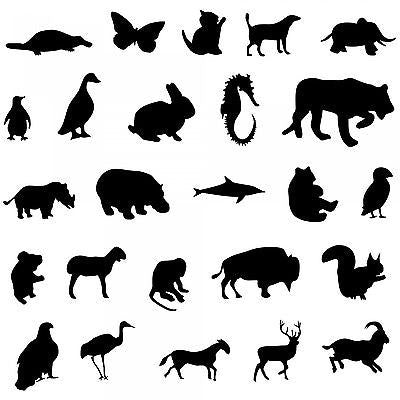 25 differernt animals - 10 mil mylar Stencil Reusable Pattern - 10 Stencils!