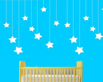 Large Moon & Stars nursery Stencil 10 mil - 5 stencils/page  Reusable Patterns