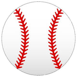Baseball Stencil - 10 mil reusable 2 part stencil pattern for a two color photo.