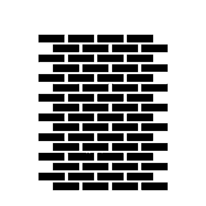 Brick Pattern - High Quality Reusable Stencil on 10 mil Mylar