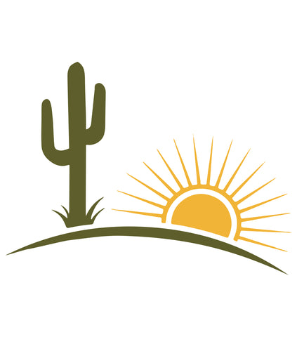 Cactus Sun - 10 Mil Clear Mylar  - Reusable Stencil Pattern