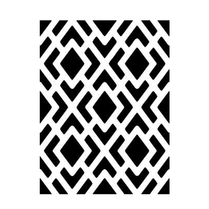 Geometric Pattern - High Quality Reusable Stencil on 10 mil Mylar