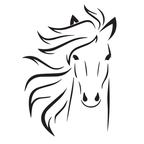 Horse -10 Mil Mylar-Reusable Stencil Pattern