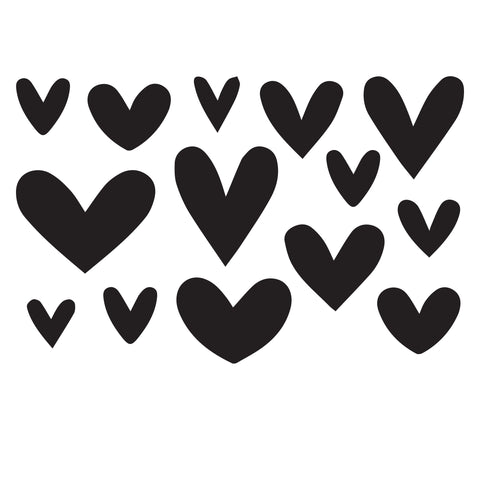 Hearts -10 Mil Mylar-Reusable Stencil Pattern