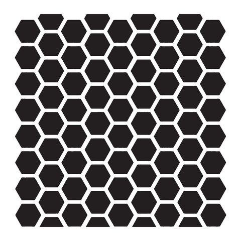 Honeycomb Pattern - 10 Mil Clear Mylar -Reusable Stencil Pattern