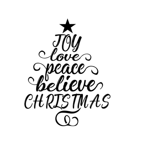 Joy Tree - 10 Mil Clear Mylar  - Reusable Stencil Pattern