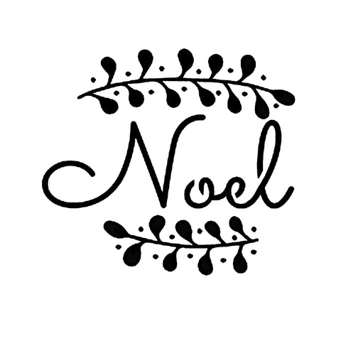 Noel - 10 Mil Clear Mylar -Reusable Stencil Pattern