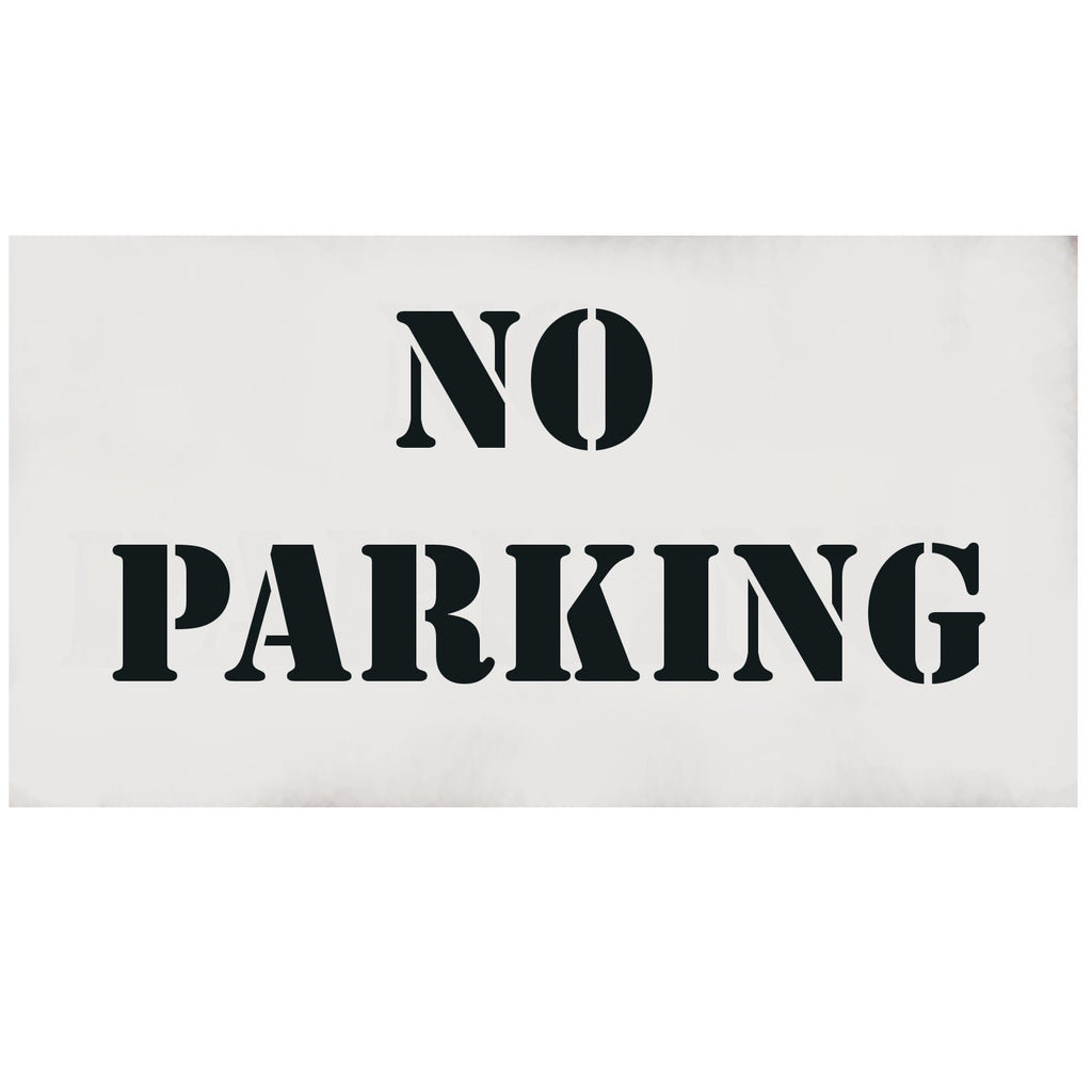 "NO PARKING ""4 letter Stencil 10 mil clear, other text available - NEW"