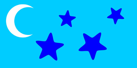 Stars and Moon - Reusable 10 mil mylar Stencil Reusable Pattern