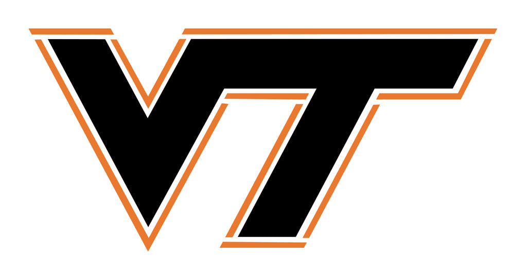 Virgina Tech College Logo Stencil