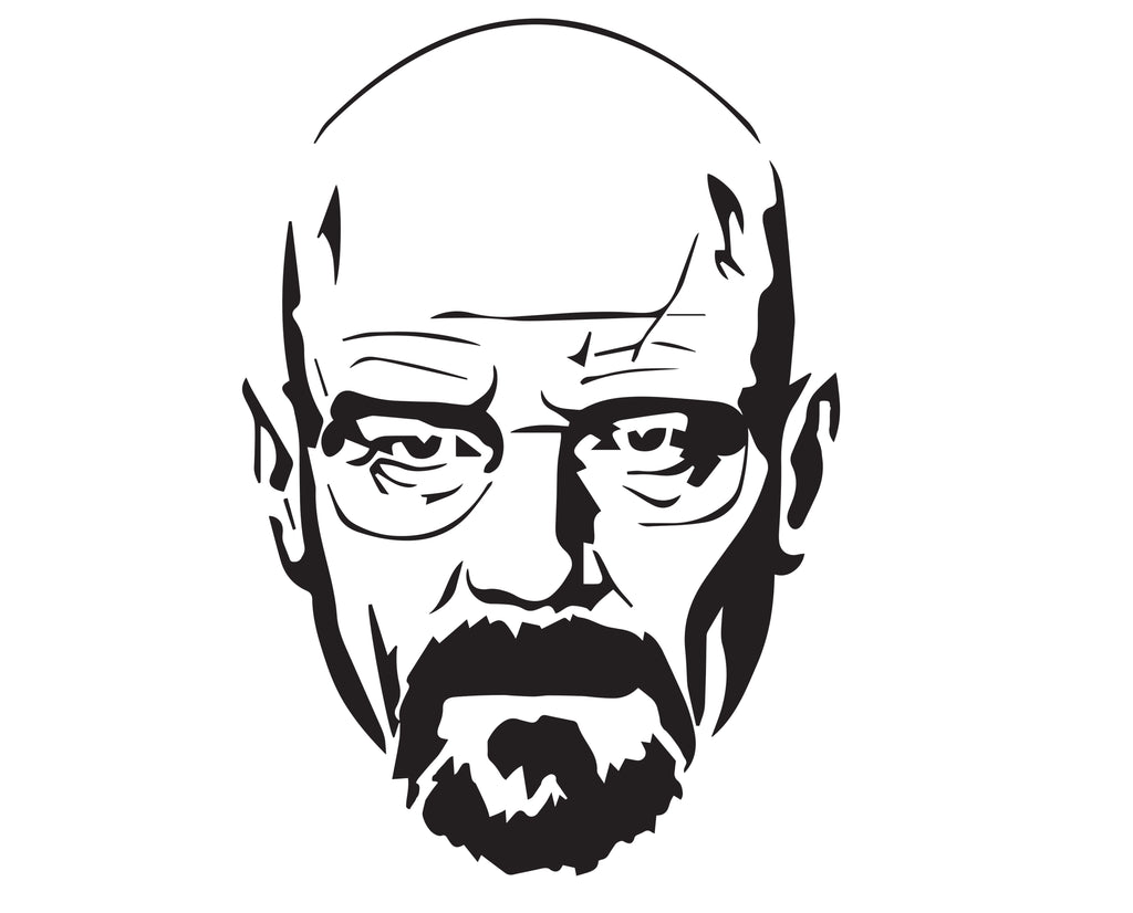 Walter White - 10 Mil Clear Mylar  - Reusable Stencil Pattern