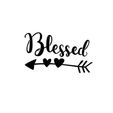 Blessed- stencil 10 mil clear mylar - reusable pattern