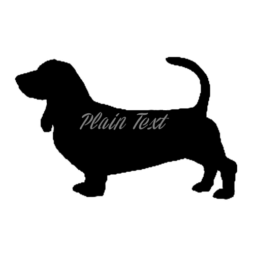 Basset Hound - High Quality Stencil 10 mil -  Reusable Patterns