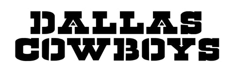 Dallas Cowboy Font and Logo - Stencil 10 mil - Reusable Patterns