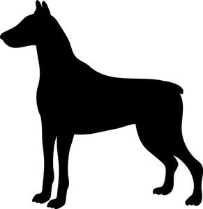 Doberman - High Quality Stencil 10 mil -  Reusable Patterns