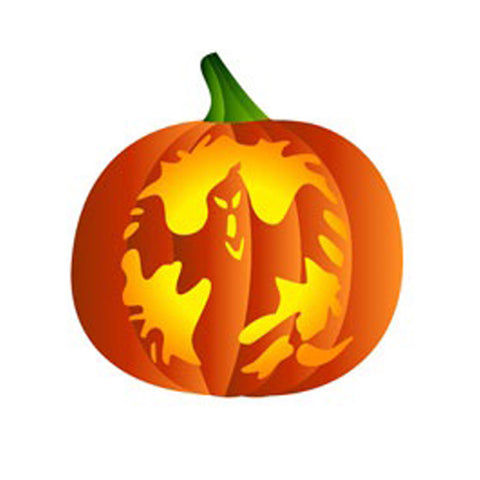 Ghost Pumpkin - 10 Mil Clear Mylar  - Reusable Stencil Pattern
