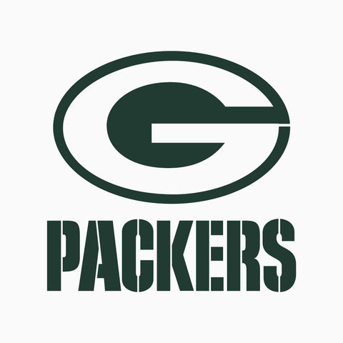 Green Bay Packer Stencil - 10 mil clear mylar reusable pattern