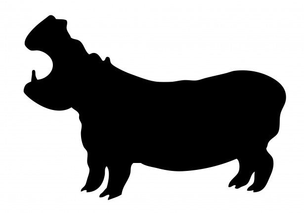 Hippopotamus - High Quality Stencil 10 mil -  Reusable Patterns