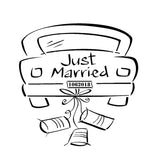 Custom Just Married - 2pk - Reusable Stencils-10 Mil Mylar