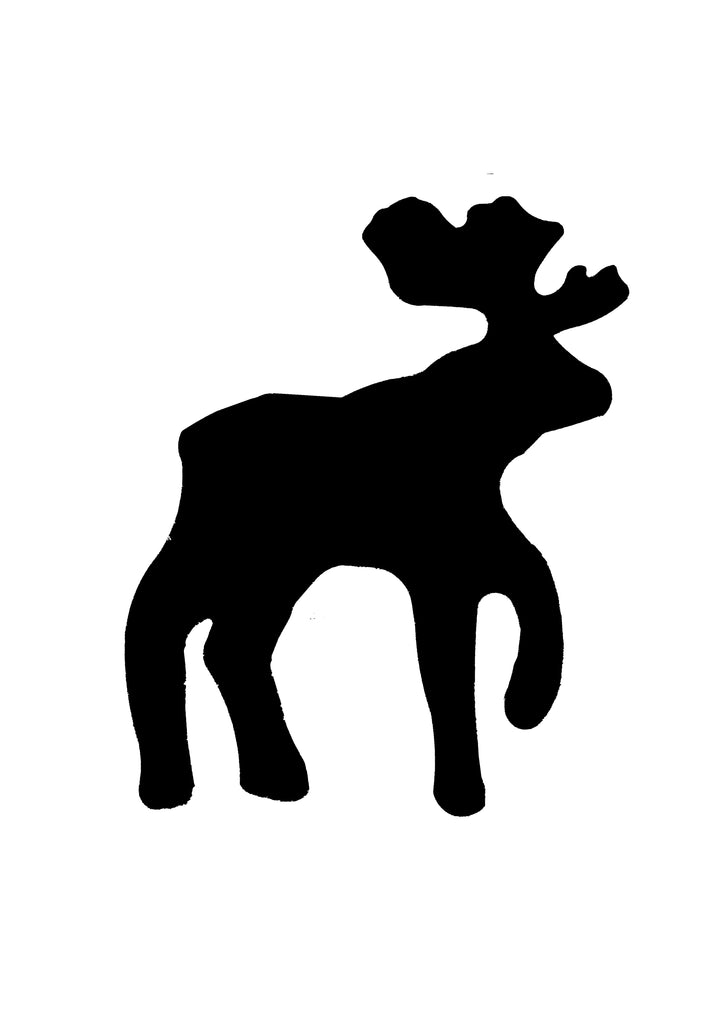 Moose Shape stencil