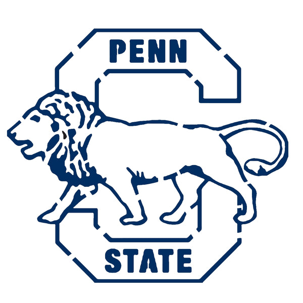 penn state emblem stencil pictures to pin on pinterest Penn State Logo Coloring Pages penn state nittany lion logo stencil