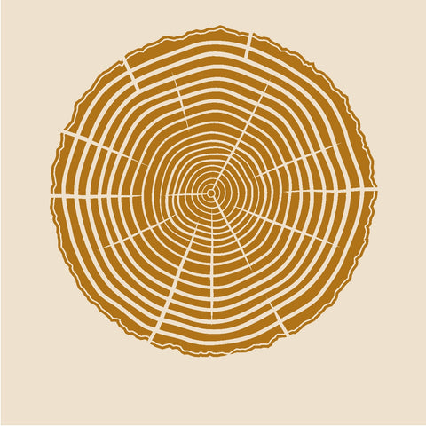 Tree Rings Stencil - 10 mil mylar reusable pattern