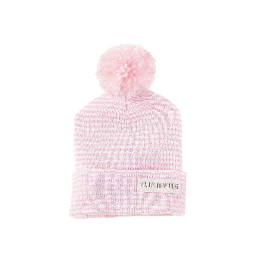Pink New Here Pom Hat