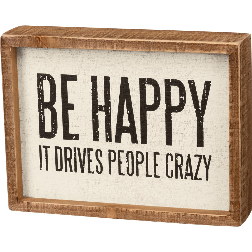 Be Happy Box Sign